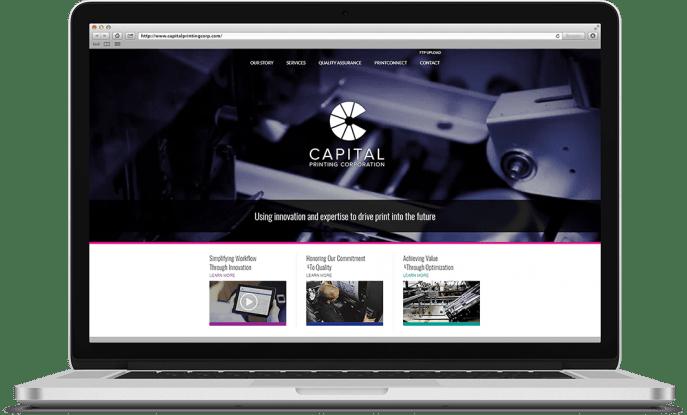 Custom website design for a printing company