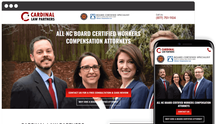 Cardinal Law Partners: Attorney & Law Website Redesign