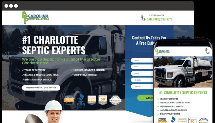Carolina Septic Pro: Homeservices Website Redesign