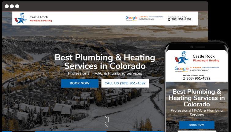 Castle Rock Plumbing & Rocking: Homeservices Website Redesign