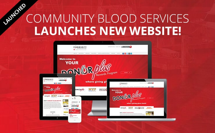 Non-Profit Community Blood Services Launches New Website!
