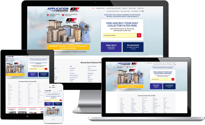 Ecommerce website for air filters