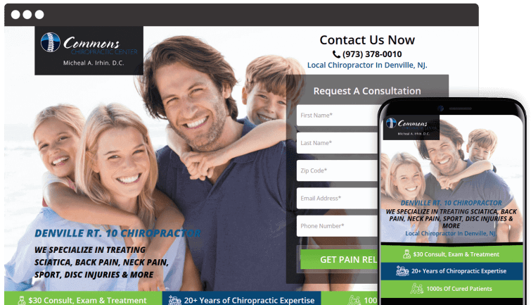 Commons Chiropractic Center: Medical Website Redesign