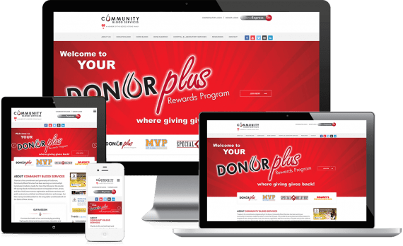 Community Blood Services Web Design Nonprofit