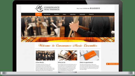 Consonance Music Ensembles Web Design Small Business