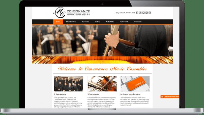 Custom website design for music ensembles