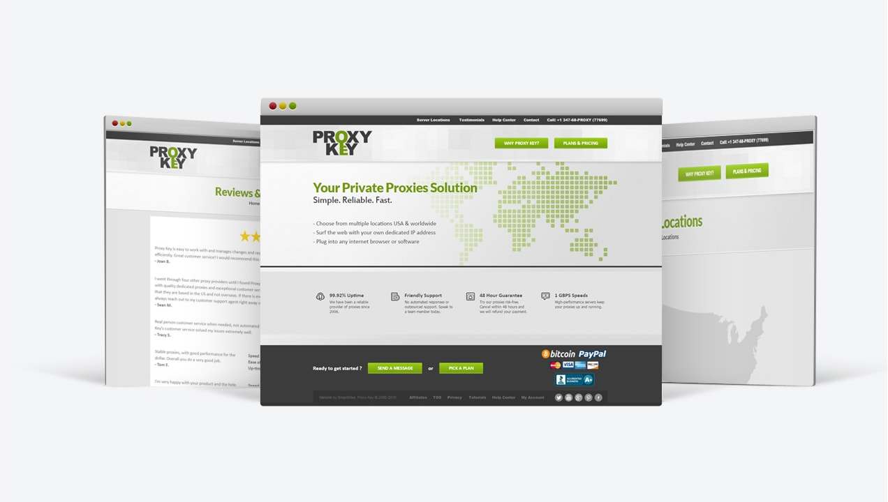 Proxy Key website designs