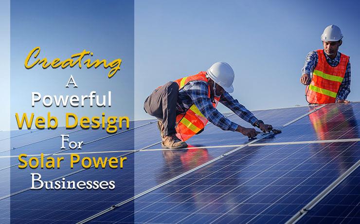 solar power website design