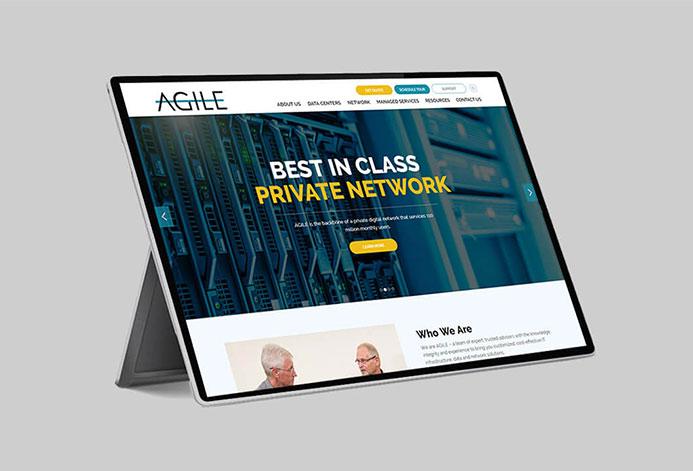 Agile Data Sites Custom Tech Website