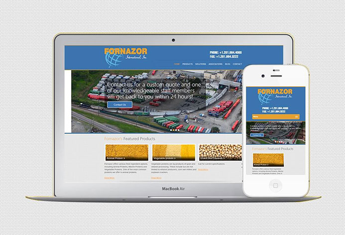 Fornazor International Custom Agriculture Website