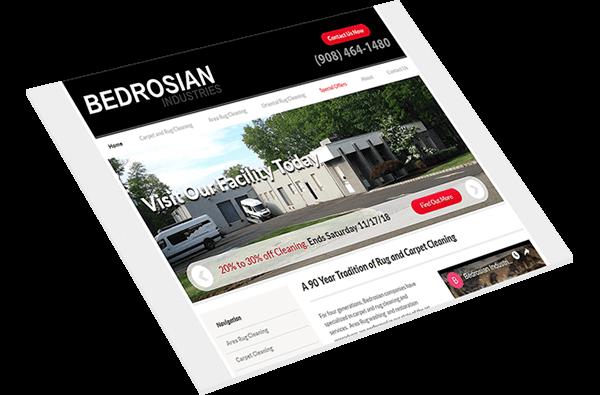 Bedrosian Rugs Custom Carpet Cleaning Service Website
