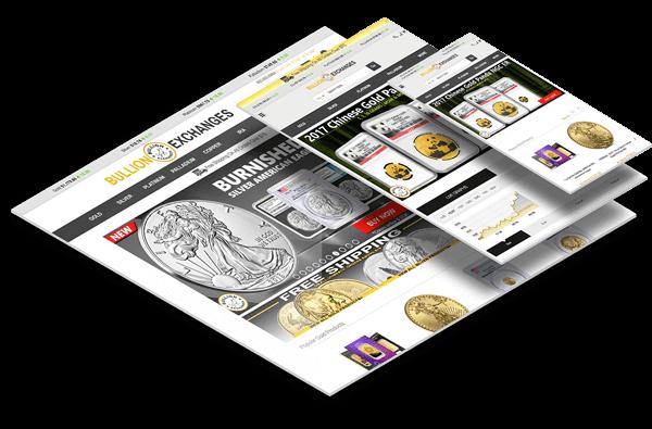 Bullion Exchanges Custom Coin Store Ecommerce Website