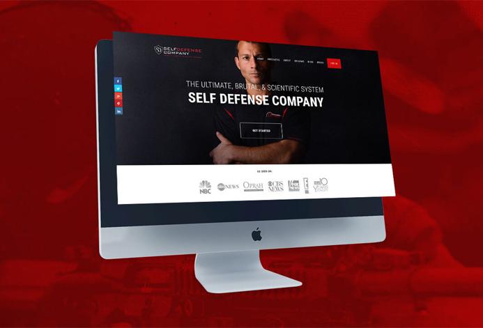 Self Defense Company Custom Defense Training Ecommerce Website