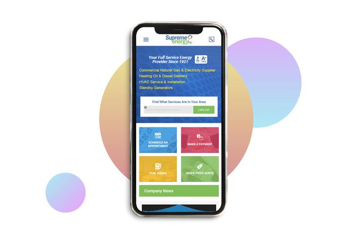 Supreme Energy Custom Energy Supplier Website