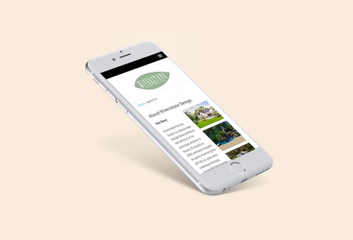 Riverstone Design Studio Custom Landscaping Company Website