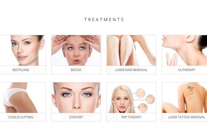 Studio Esthetique Custom Laser Center Website
