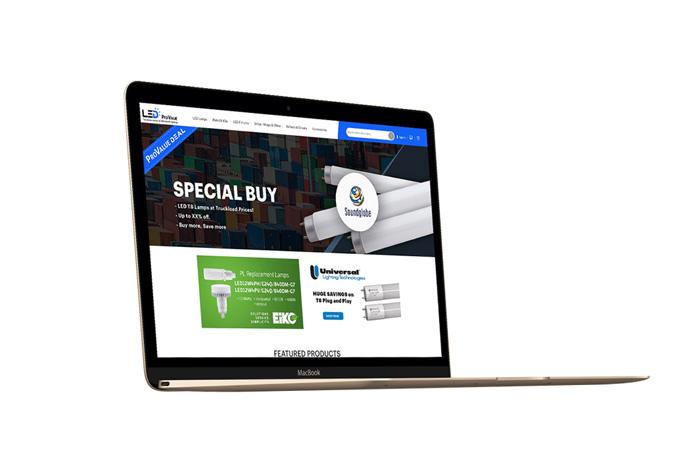 LED Pro Value Custom Lighting Ecommerce Website