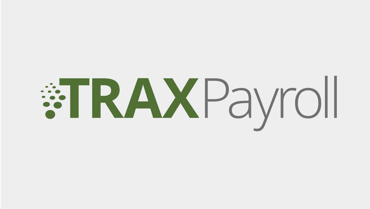 Traxpayroll logo design