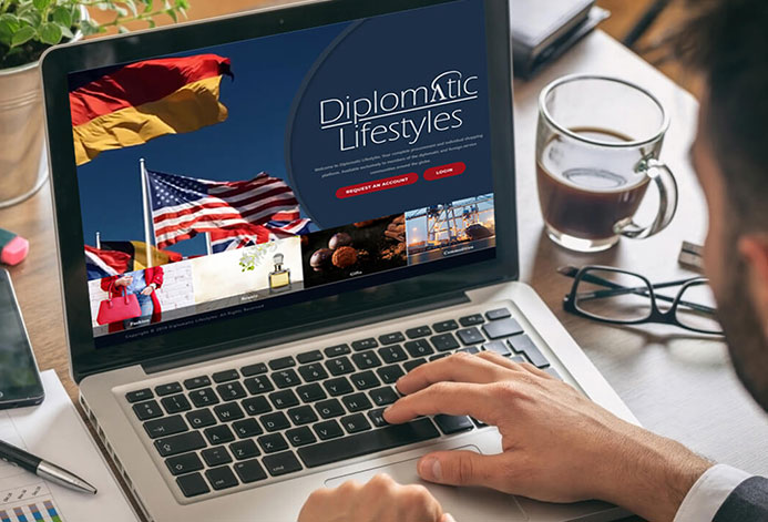 Diplomatic Lifestlyes Custom Luxury Goods Website