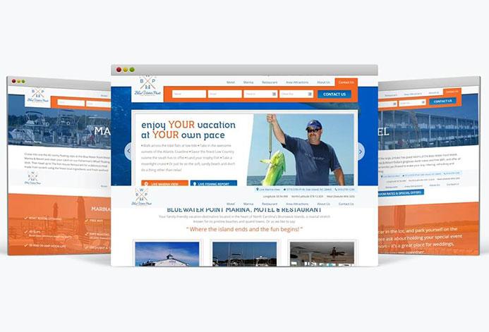 Blue Water Point Marina Custom Marina Website