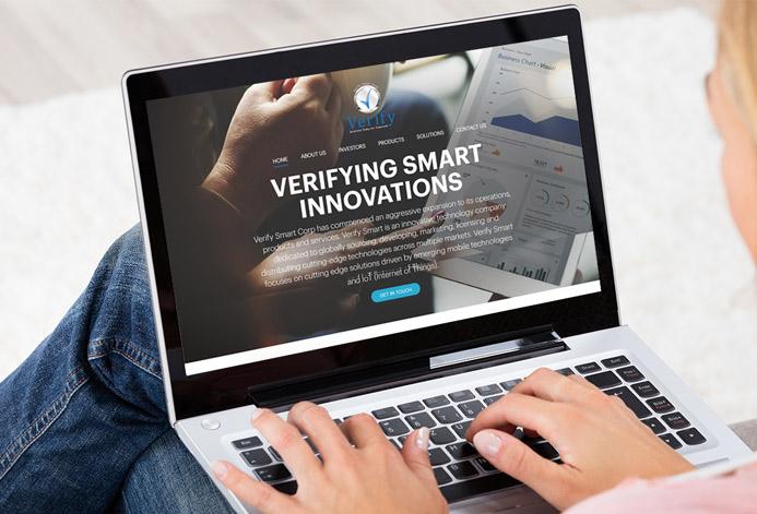 Verify Smart Corporation Custom Medtech Website