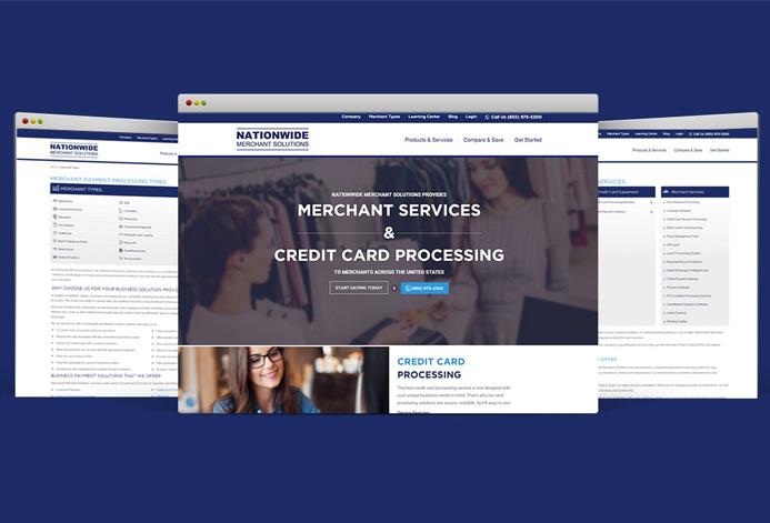 Nationwide Merchant Solutions Custom Merchant Services Website