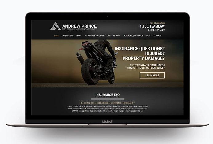 Motorcycle Injury Law Custom Motorcycle Lawyer Website