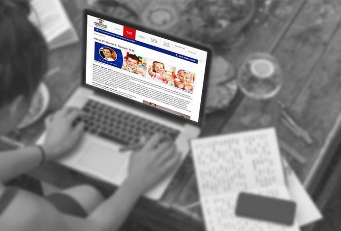 ENT For Children Custom Pediatric Medical Practice Website