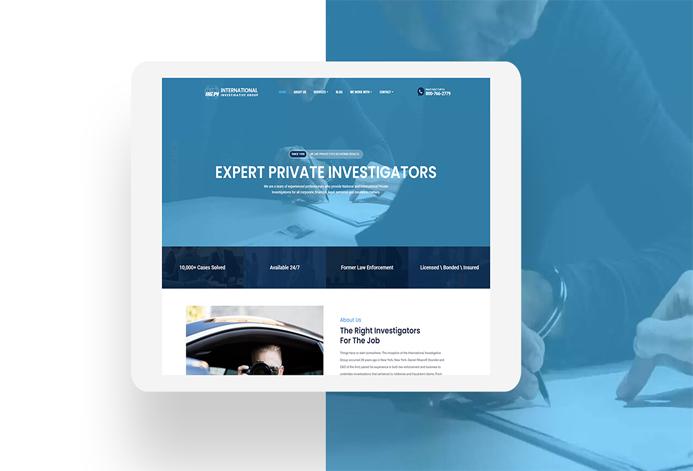 International Investigators Custom Private Investigator Services Website
