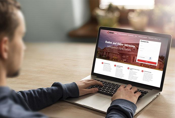 Obar Systems Custom Radon Mitigation Website