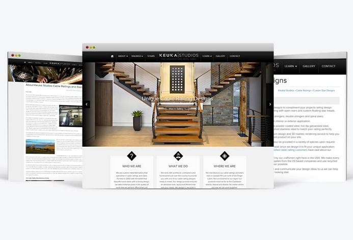 Keuka Studios Custom Railing Contractor Website