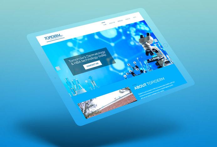 TopiDerm Custom Skincare Manufacturing Website