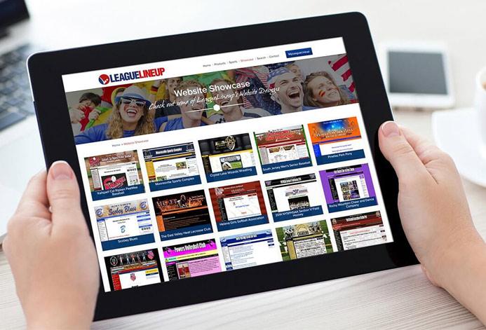 League Lineup Custom Sports Leagues Website