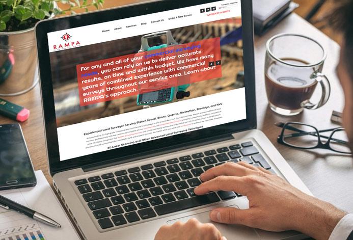 POB Precision Services Custom Surveying Company Website