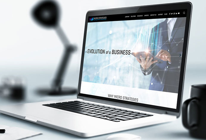 MicroStrategies Custom Technology Solutions Website