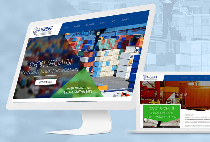 Arreff Teriminals Custom Transloading Facility Website