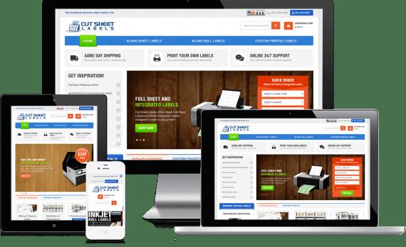 Cut Sheet Labels Web Design Business to Business