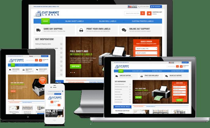 Custom website design for label services