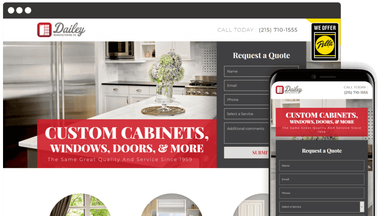 Daily Manufacturing Co: Homeservices Website Redesign