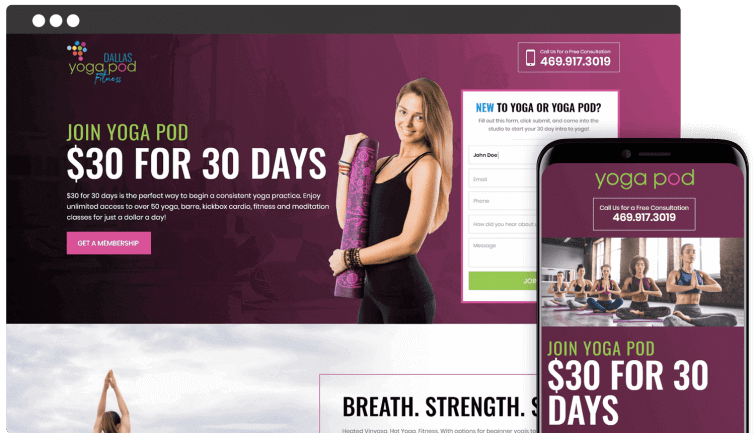 dallas-yoga-pod-fitness-local-business-industry-website-redesign