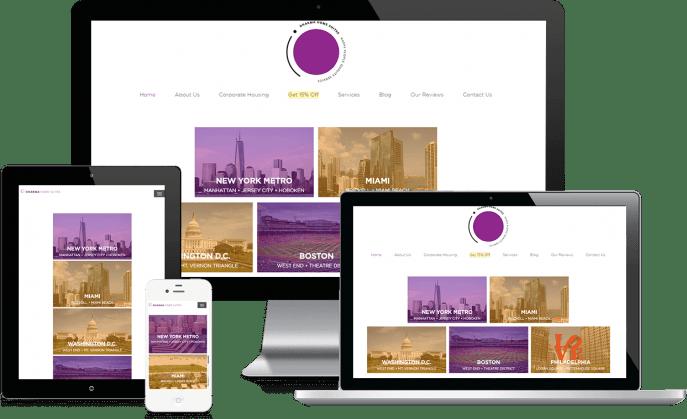 Custom website design for short term housing