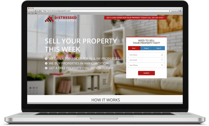 Custom website design for home buyers