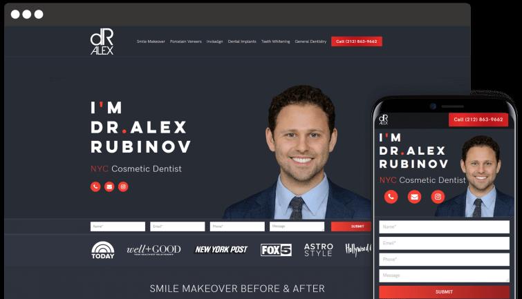Dr. Alex: Medical Website Redesign