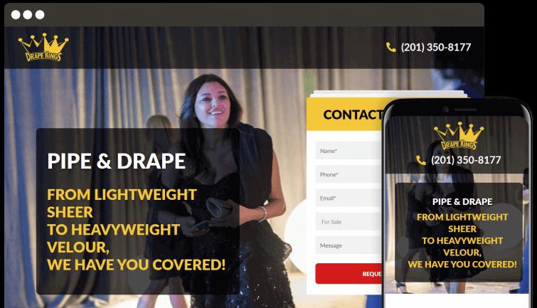Drape Kings: B2B Website Redesign