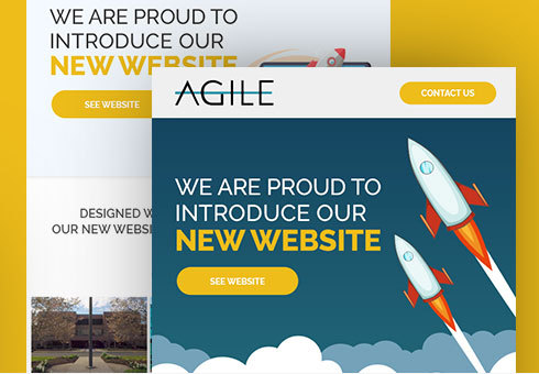 Email Newsletter Design For Agile Data Sites