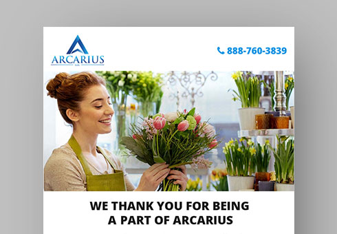 Email Newsletter Design For Arcarius