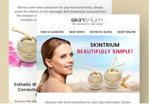 Email Newsletter Design for Skintrium