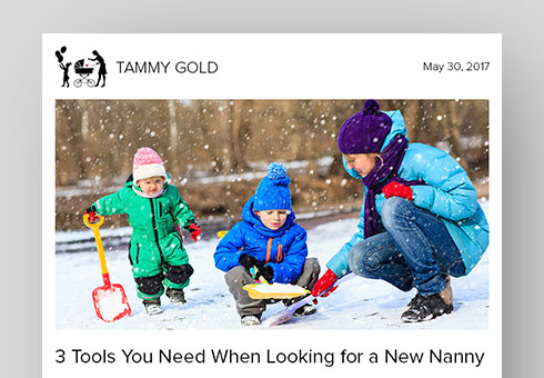 Email Newsletter Design for Tammy Gold