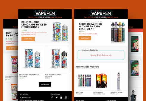 Email Newsletter Design for VAPEPEN