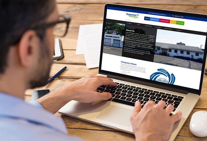 Supreme Energy WordPress Website